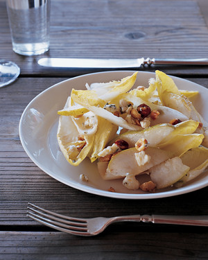 Endive and Pear Salad with Oregon Blue Cheese and Hazelnuts
