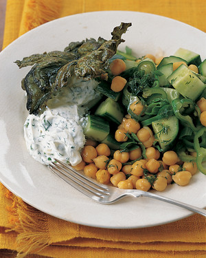 Cucumber-Chickpea Salad with Herbed Yogurt