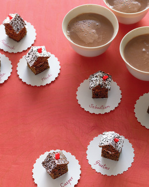 Chocolate Gingerbread House Petits Fours