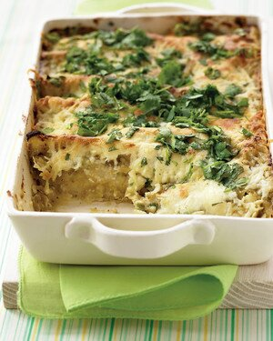 Chicken Enchiladas With Creamy Green Sauce Recipe Martha Stewart