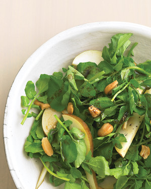 Watercress, Pear, and Cashew Salad