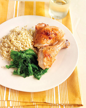 Roasted Paprika Chicken with Greens and Grains