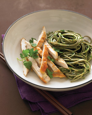 Sauteed Chicken with Herbed Soba