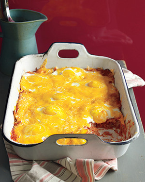 Baked Eggs and Tortillas In Creamy Tomato Sauce