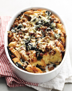 Sausage and Swiss Chard Strata
