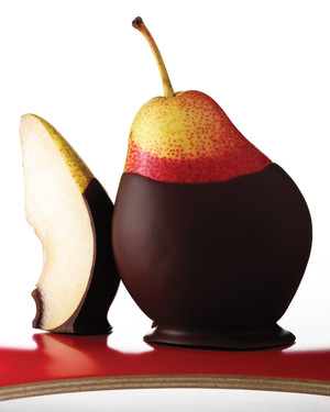 Chocolate-Dipped Pears