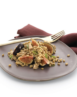 Barley, Chicken, and Fig Salad