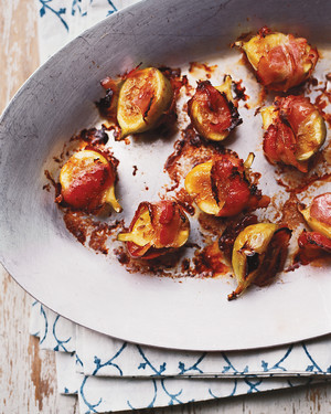 Broiled Green Figs with Pancetta