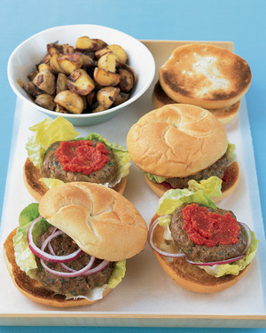 Meatloaf Burgers With Quick Ketchup