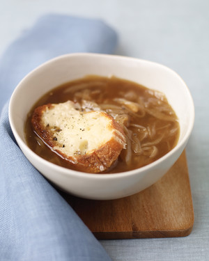 Onion Soup with Cheese Toasts