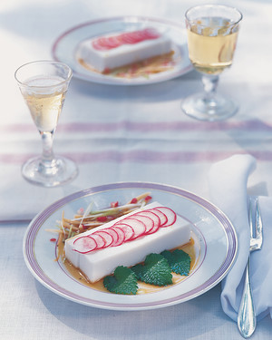 Silken Tofu with Sliced Radishes and Soy Vinaigrette