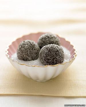 Chocolate-Champagne Truffles in Sparkling Sugar