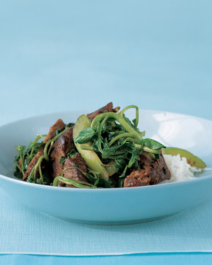 Stir-Fried Beef and Greens