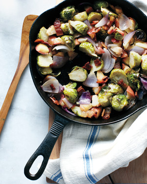 Brussels Sprout, Apple, and Bacon Hash
