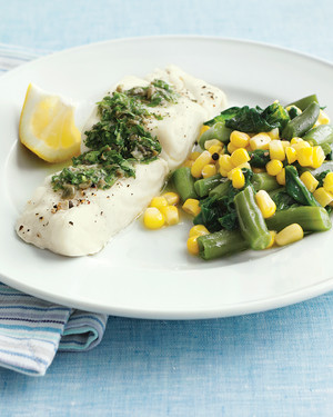 Cod Fillets with Caper Butter