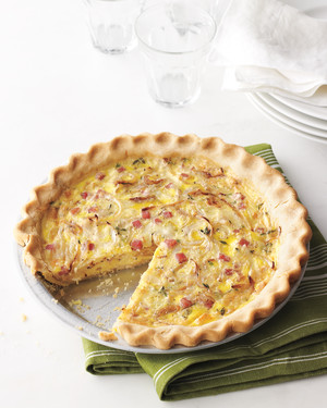 Gluten-Free Ham-and-Swiss Quiche