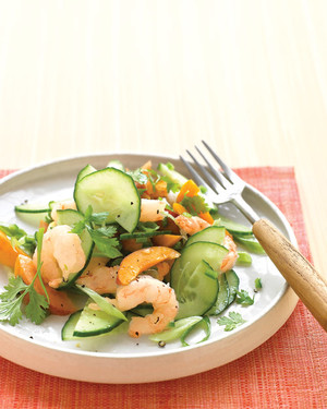 Shrimp Salad with Apricots and Cucumber