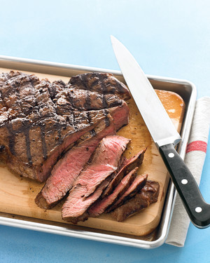Grilled Sirloin Steak with Toppings Bar