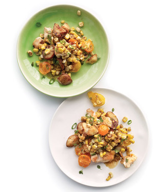Summer Vegetable and Chicken Hash