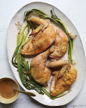 Roast Chicken and Scallions