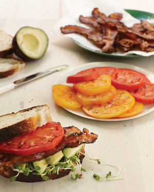 Bacon, Avocado, and Tomato Sandwich