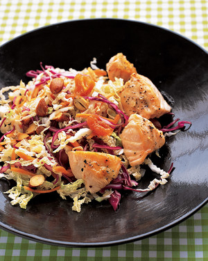 Quick Asian Salad with Salmon