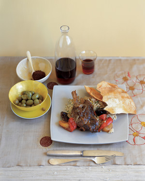 Slow-Cooked Lamb with Prunes and Dried Apricots
