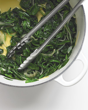 Wilted Spinach with Shallots