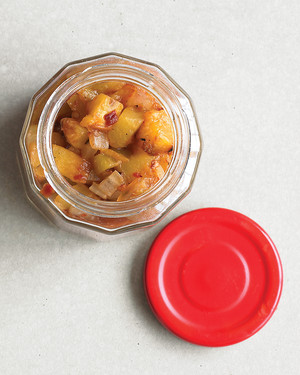 Grilled Peach Relish