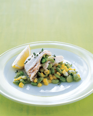 Snapper with Succotash