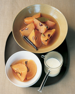 Spiced Quince in Syrup