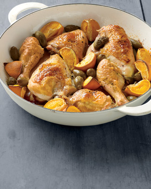 Roasted Chicken with Tangerines and Olives