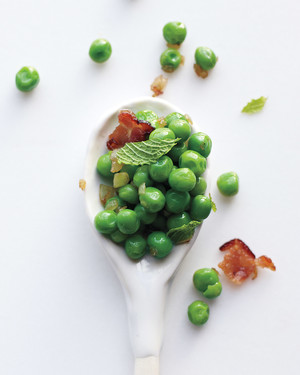 Peas with Bacon Vinaigrette