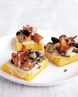 Roasted Polenta with Fontina and Wild Mushrooms