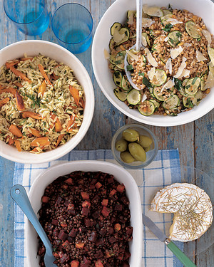 Orzo Salad with Roasted Carrots and Dill