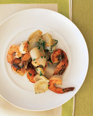 Sauteed Shrimp and Endive
