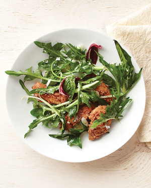 Fried Chicken with Puntarelle Salad