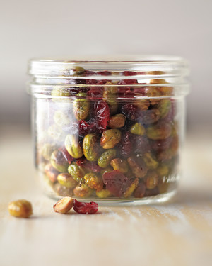 Dry-Roasted Edamame with Cranberries