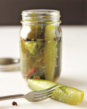 Canned Sour Pickles and Pickling Spice