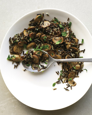 Wild Rice with Mushrooms and Parsley