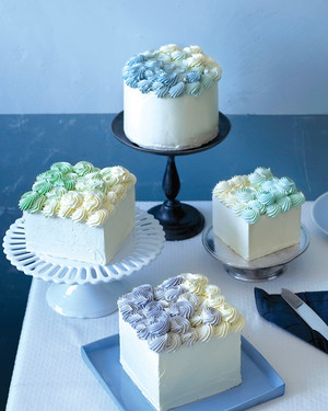 Ombre Swiss Meringue Buttercream