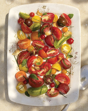 Heirloom Tomato Salad with Garlic Oil