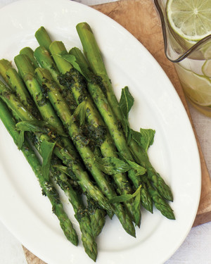 Asparagus with Mint Butter