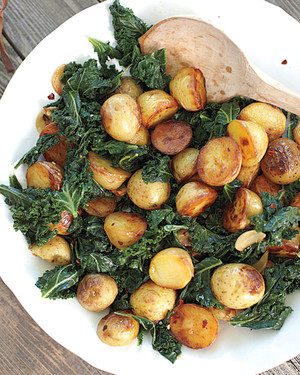 Skillet Potatoes with Greens