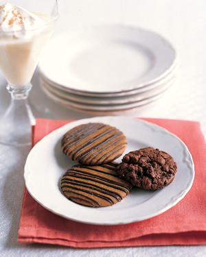 Chocolate-Drizzled Spice Cookies