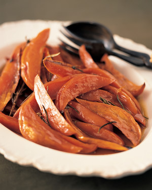 Candied Sweet Potatoes with Rosemary