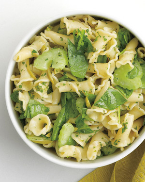 Tangy Pasta Salad with Spinach