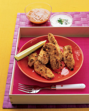 Easy Chicken Fingers with Two Dipping Sauces