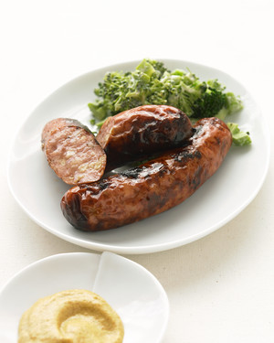 Chicken Sausage with Broccoli Slaw