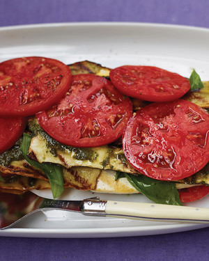 Grilled Vegetable and Tofu  Lasagna  with Pesto